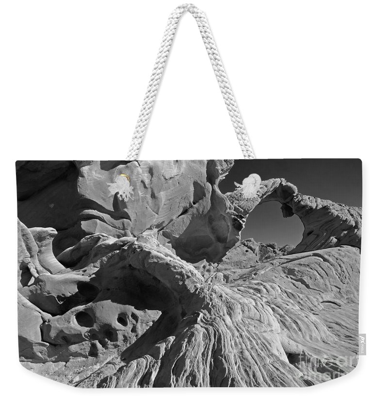Arch Weekender Tote Bag featuring the photograph The Arch Bw by Mike Nellums