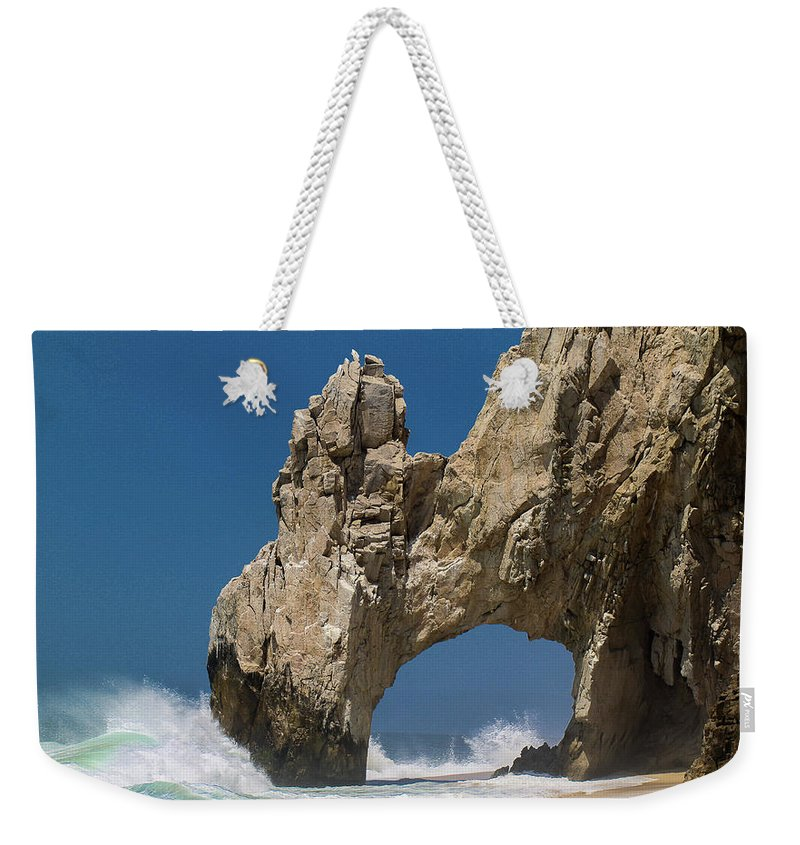 Scenics Weekender Tote Bag featuring the photograph The Arch Of Los Cabos San Lucas by Marc Javelly
