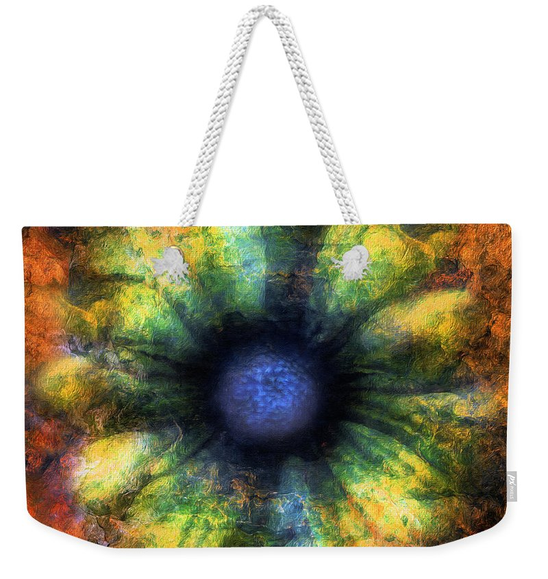Abstract Weekender Tote Bag featuring the mixed media The Art Of Decay by Georgiana Romanovna