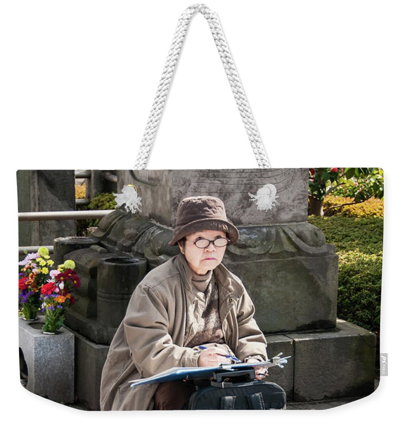 Guy Whiteley Photography Weekender Tote Bag featuring the photograph The Artist by Guy Whiteley
