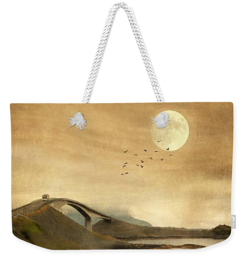 Storseisundet Bridge Weekender Tote Bag featuring the photograph The Atlantic Road by Sonya Kanelstrand
