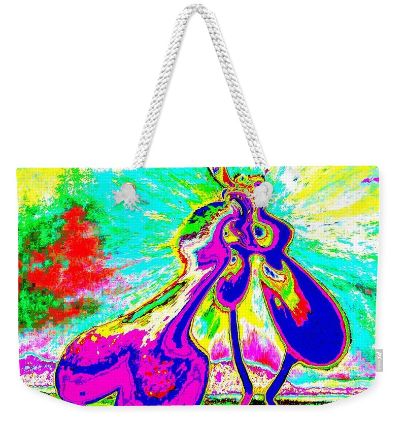 Genio Weekender Tote Bag featuring the mixed media The Awakening Of Eros by Genio GgXpress