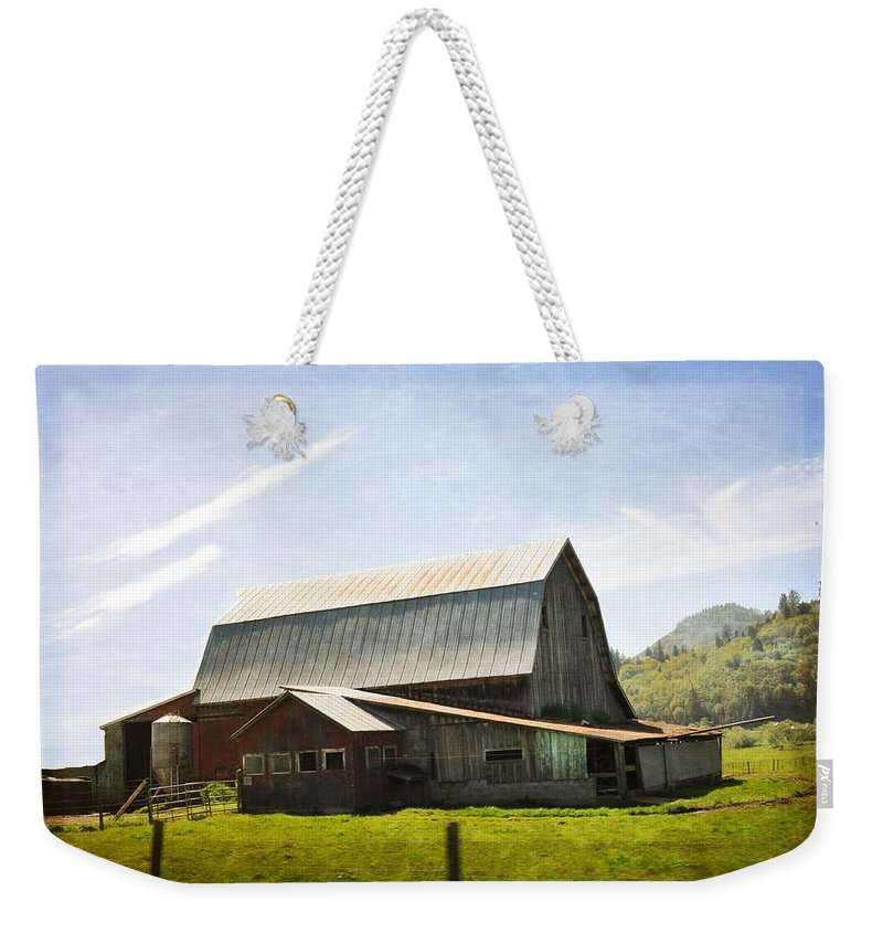 Barn Weekender Tote Bag featuring the photograph The Barn by Image Takers Photography LLC