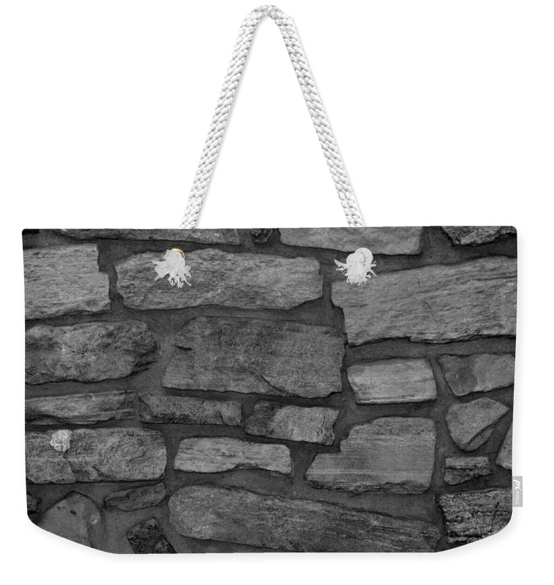 Scenic Weekender Tote Bag featuring the photograph The Battery Wall In Black And White by Rob Hans