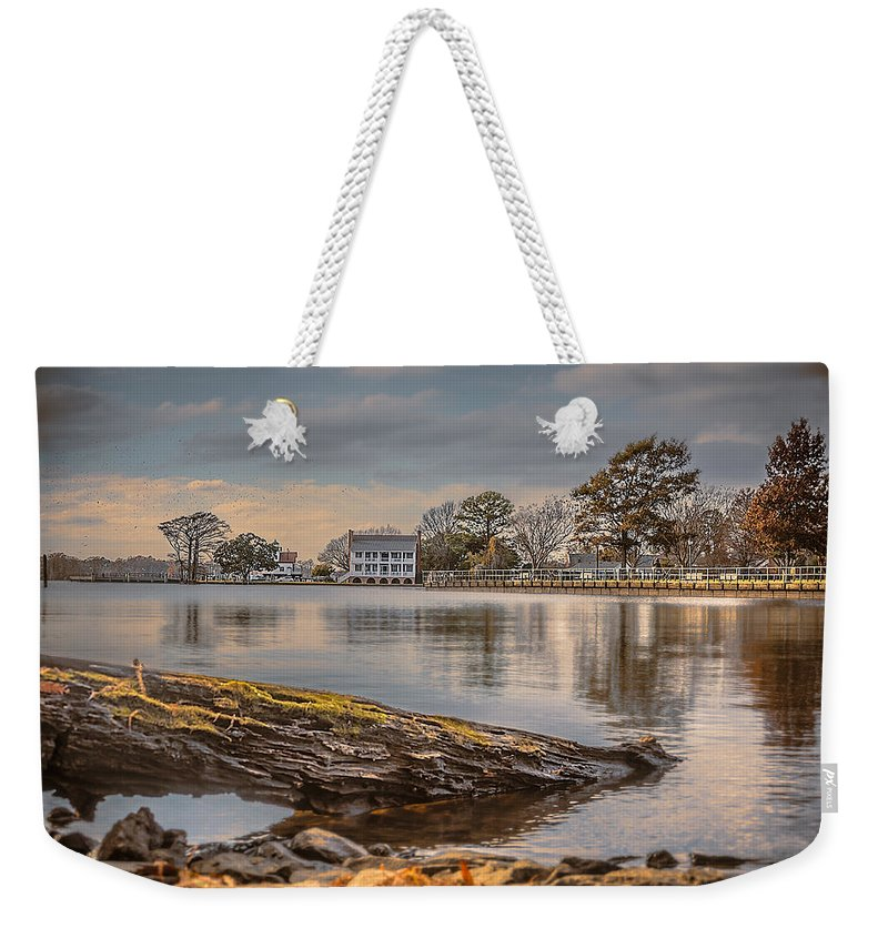 1782 Barker House Weekender Tote Bag featuring the photograph The Bay by Chris Modlin