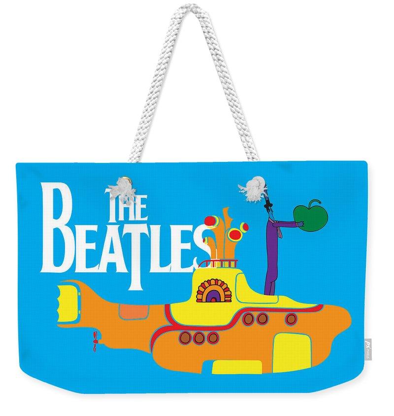 Rock N Roll The Beatles Weekender Tote Bags