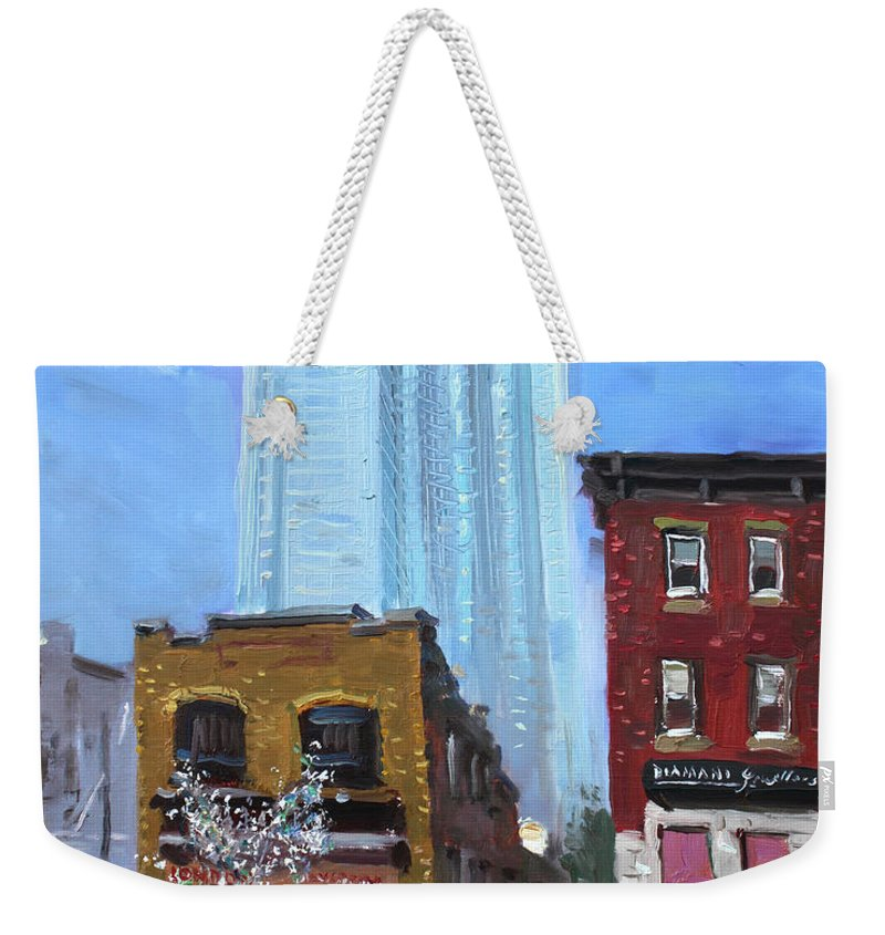 London Canada Weekender Tote Bag featuring the painting The Beauty N' The Background In London Canada by Ylli Haruni