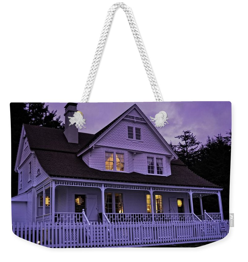 Heceta Weekender Tote Bag featuring the photograph The Bed And Breakfast At Heceta by Image Takers Photography LLC - Laura Morgan