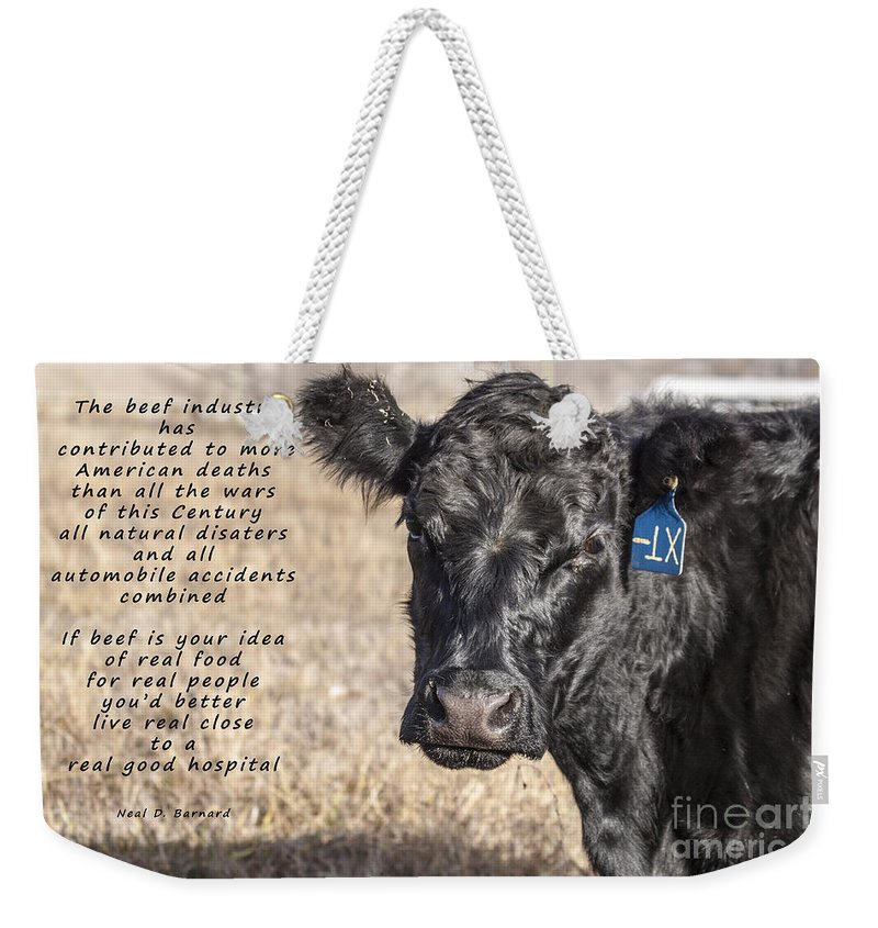 Diet Weekender Tote Bag featuring the photograph The Beef Industry by Janice Pariza