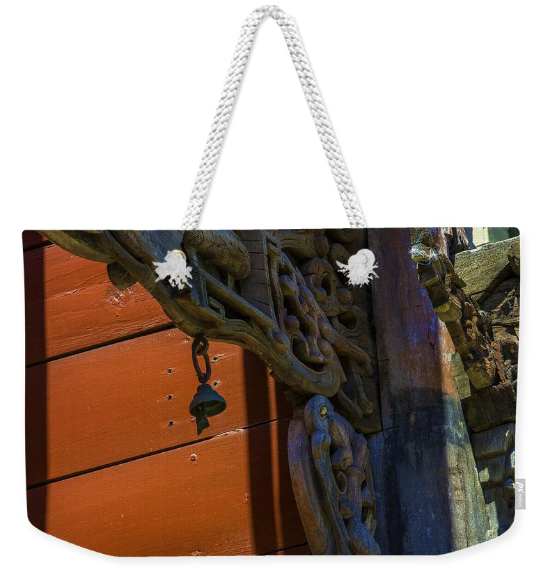 Weekender Tote Bag featuring the photograph The Bell by Raymond Kunst
