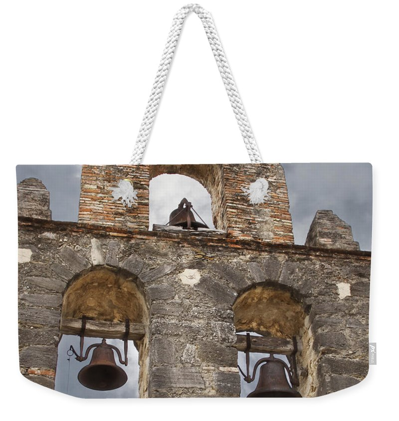 Arches Weekender Tote Bag featuring the photograph The Bells Of Espada by David and Carol Kelly