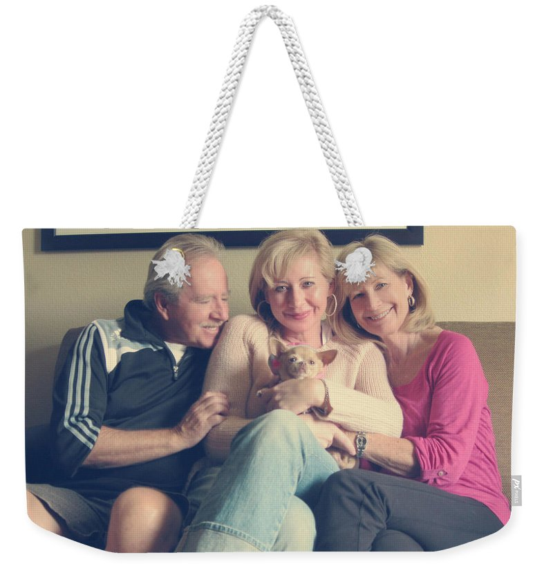 Family Weekender Tote Bag featuring the photograph The Best by Laurie Search