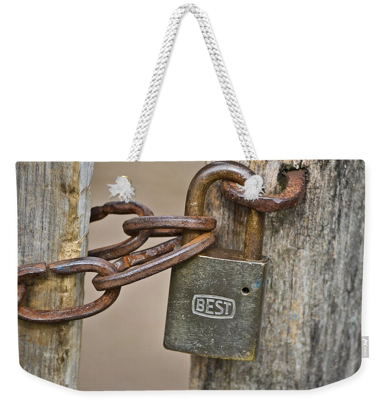 Lock Weekender Tote Bag featuring the mixed media The Best by Trish Tritz
