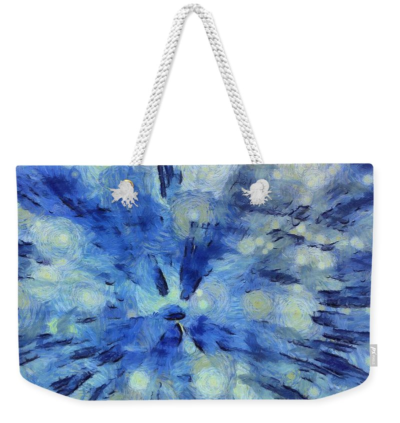 The Big Bang Weekender Tote Bag featuring the painting The Big Bang by Dan Sproul