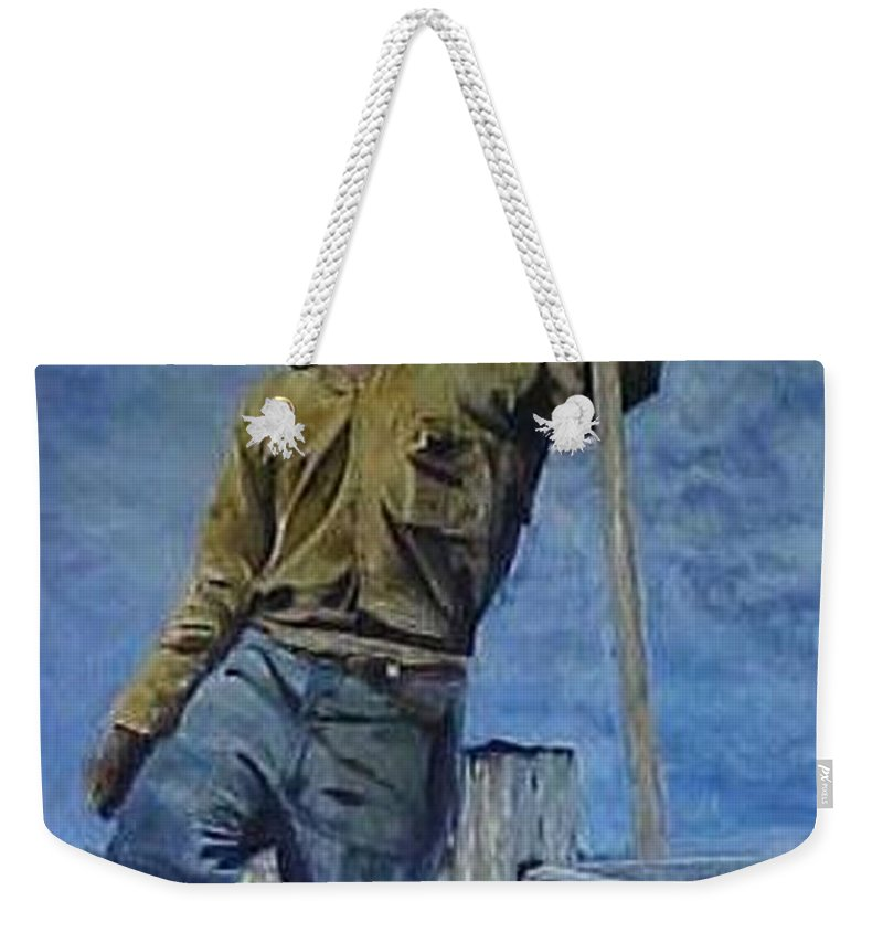 Arizona Drought 1933 Weekender Tote Bag featuring the painting The Big Dry by Bob Chesney