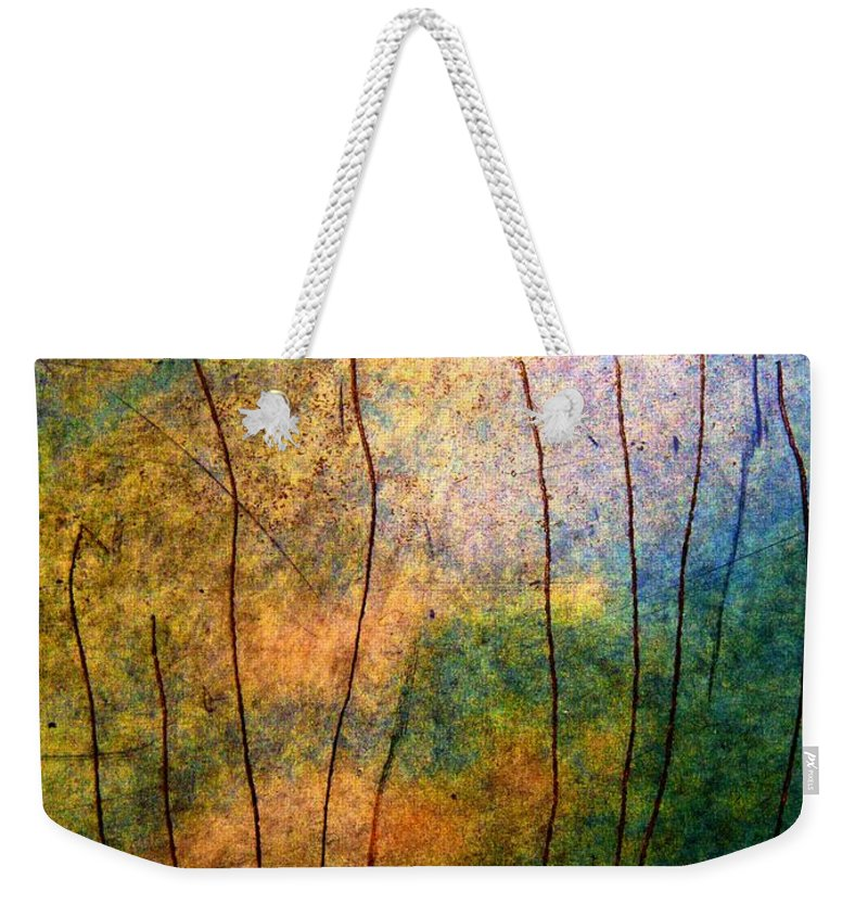 Mountain Bronze Weekender Tote Bag featuring the photograph The Big Rock Candy Mountain by Jamie Johnson