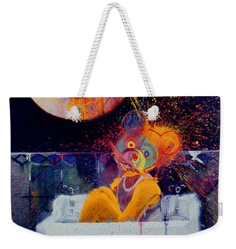 Bear Weekender Tote Bag featuring the painting The Big Wash by Charles Stuart