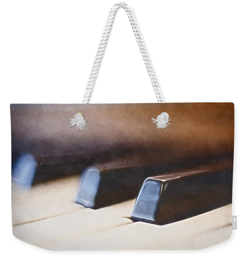 Piano Weekender Tote Bag featuring the photograph The Black Keys by Scott Norris