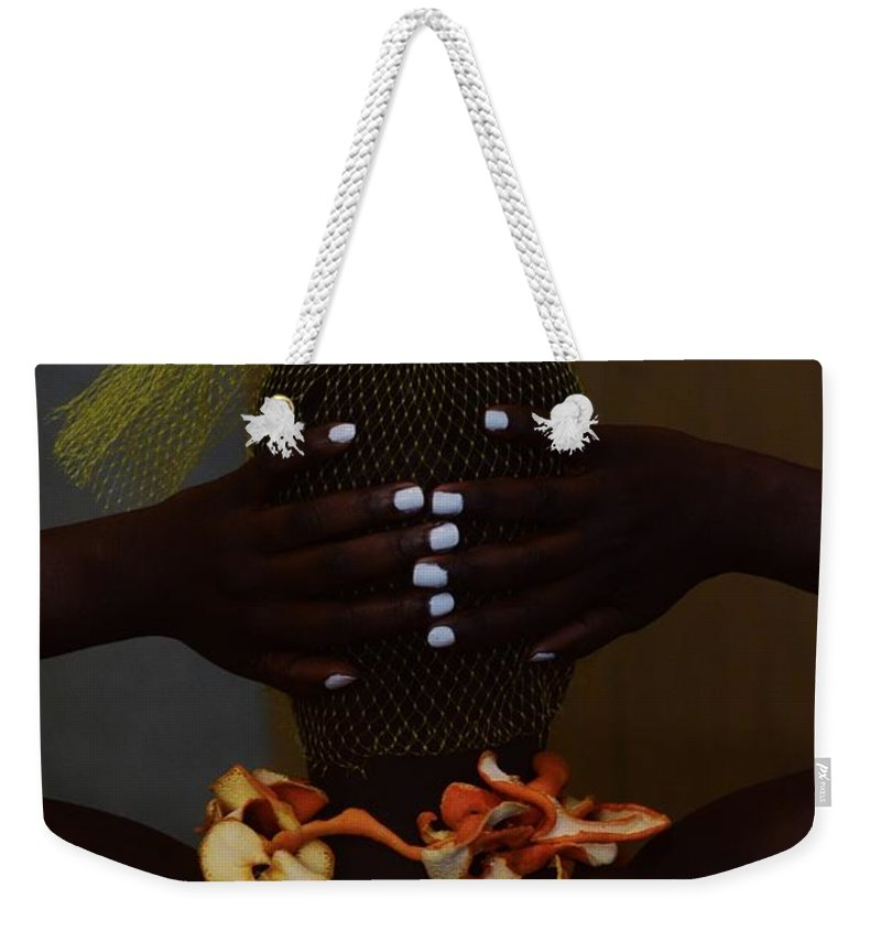 Orange Color Weekender Tote Bag featuring the photograph The Black Victorian by Stephanie Nnamani