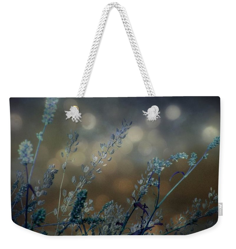 Blue Weekender Tote Bag featuring the photograph The Bling Of Blue by Gothicrow Images