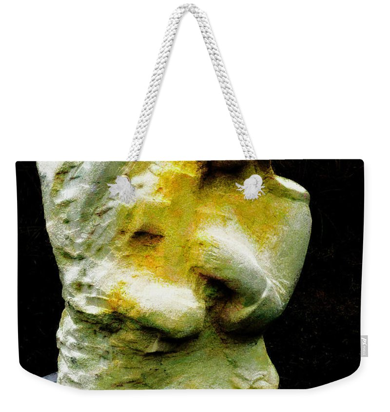 Sculpture Weekender Tote Bag featuring the photograph The Bliss by Steve Taylor