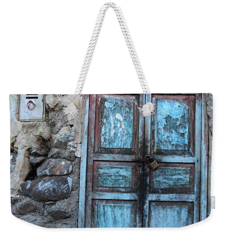 Doors Weekender Tote Bag featuring the photograph The Blue Door 1 by James Brunker