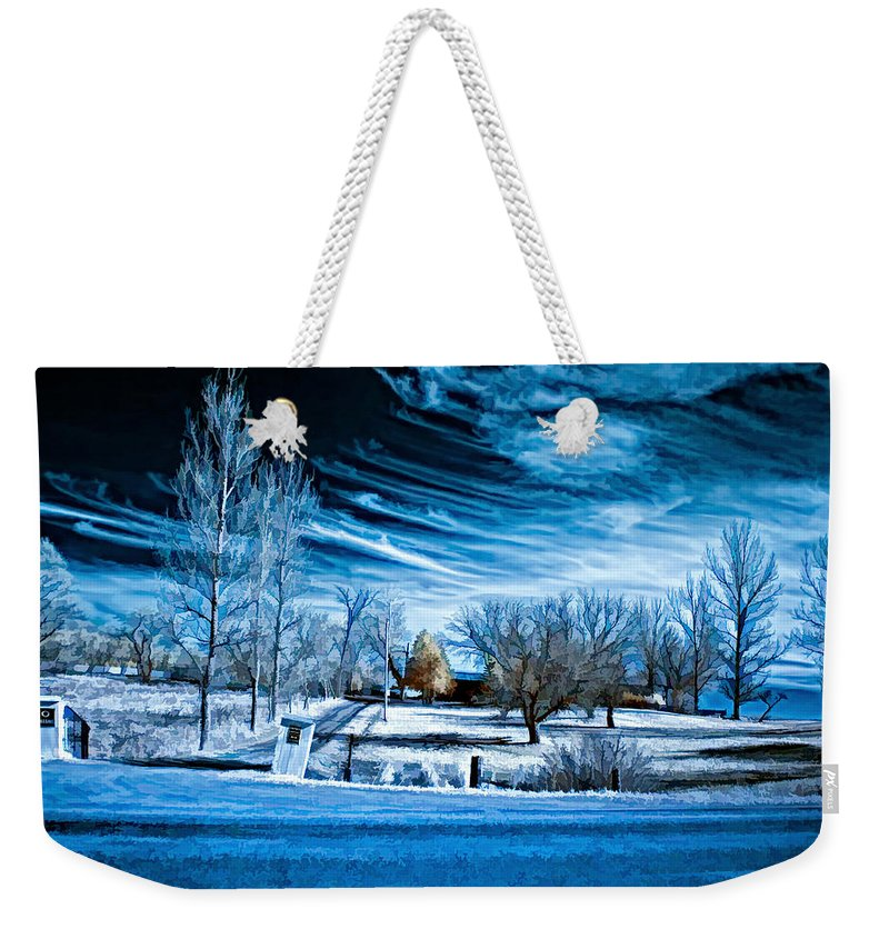 Landscape Weekender Tote Bag featuring the photograph The Blue Hour by Steve Harrington