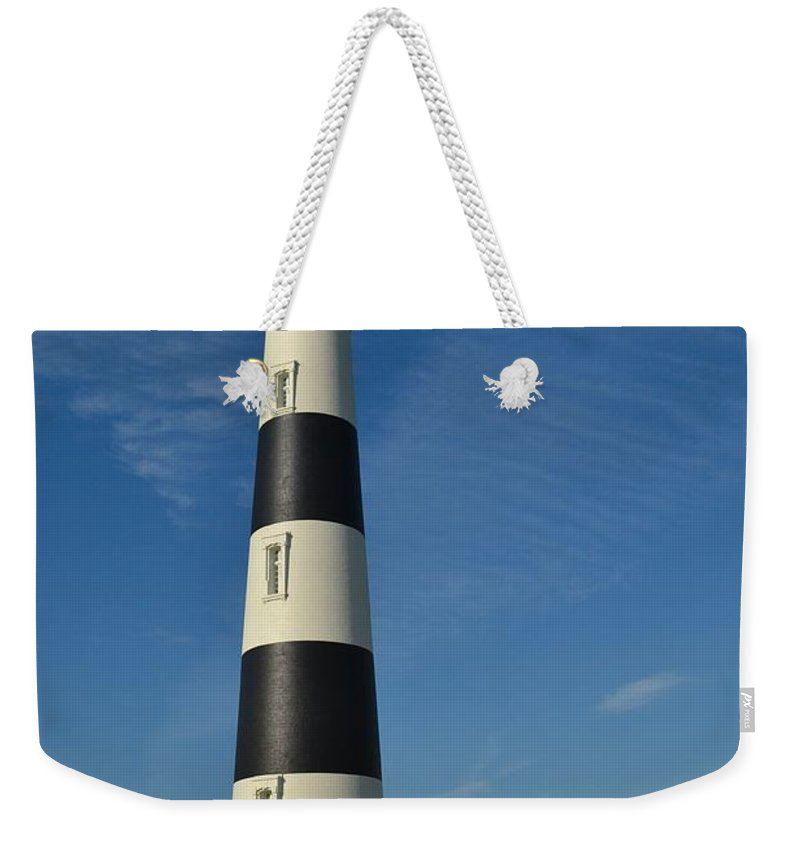The Bodie Island Light House With A Nice Clear Blue Sky. Bodie Island Weekender Tote Bag featuring the photograph The Bodie Island Light House by Robert Loe
