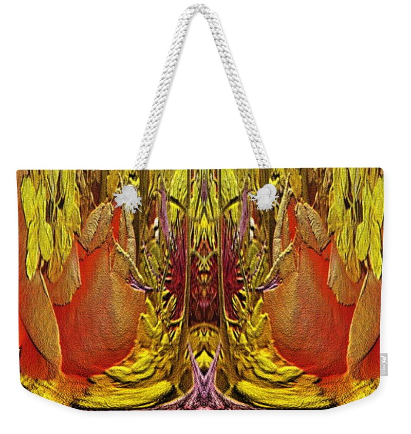 Abstract Weekender Tote Bag featuring the digital art The Bouquet Unleashed 73 by Tim Allen