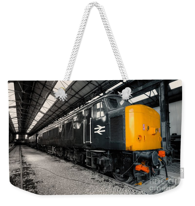 Br Weekender Tote Bag featuring the photograph The Br Class 45 by Rob Hawkins