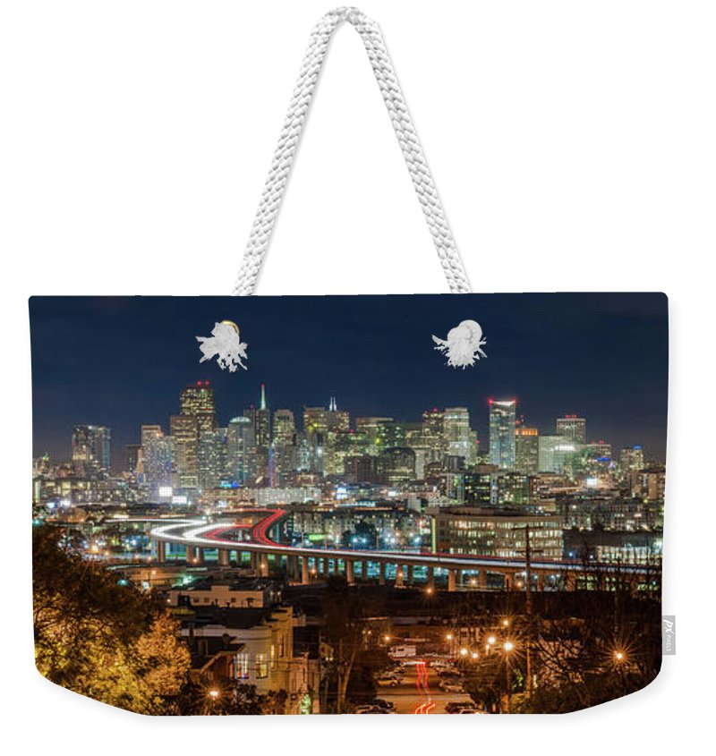 Tranquility Weekender Tote Bag featuring the photograph The Breath Taking View Of San Francisco by Www.35mmnegative.com