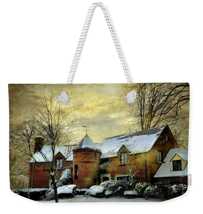 Home Weekender Tote Bag featuring the photograph The Brick Turret by Diana Angstadt