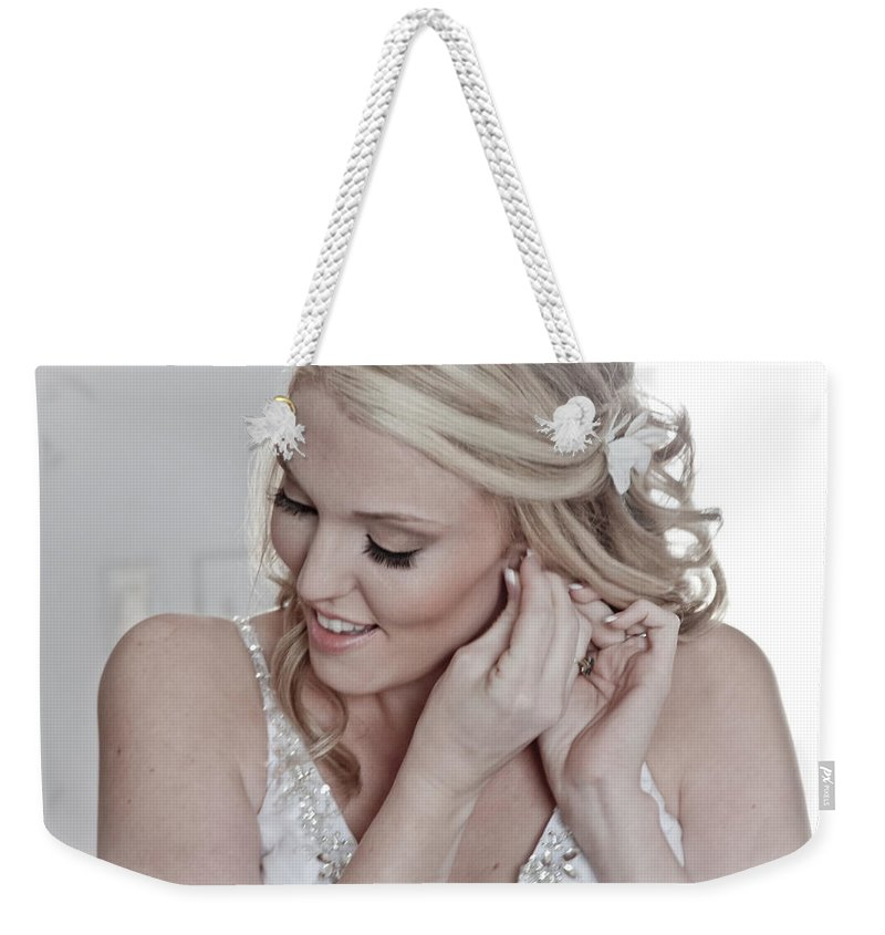 Portaits Weekender Tote Bag featuring the digital art The Bride by Linda Unger