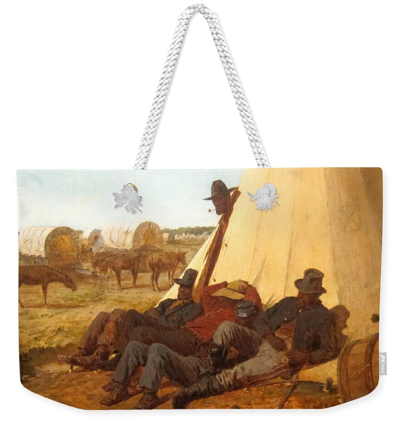 The Bright Side Weekender Tote Bag featuring the digital art The Bright Side by Winslow Homer