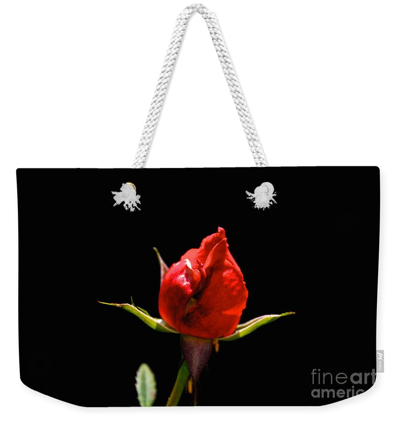 Bud Weekender Tote Bag featuring the photograph The Bud by William Norton
