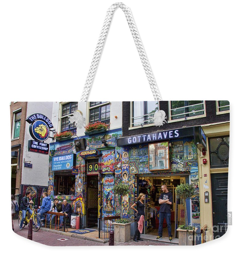 The Bulldog Coffee Shop Amsterdam Weekender Tote Bag