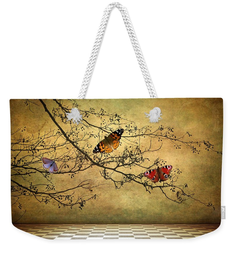 Fantasy Weekender Tote Bag featuring the photograph The Butterfly Room by Jessica Jenney