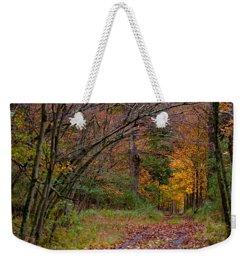 Weekender Tote Bag featuring the photograph The Camp Drive by Scott Hafer