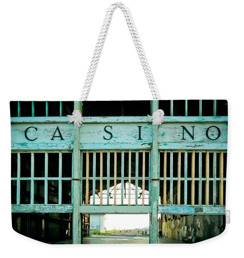 Asbury Park Weekender Tote Bag featuring the photograph The Casino by Colleen Kammerer