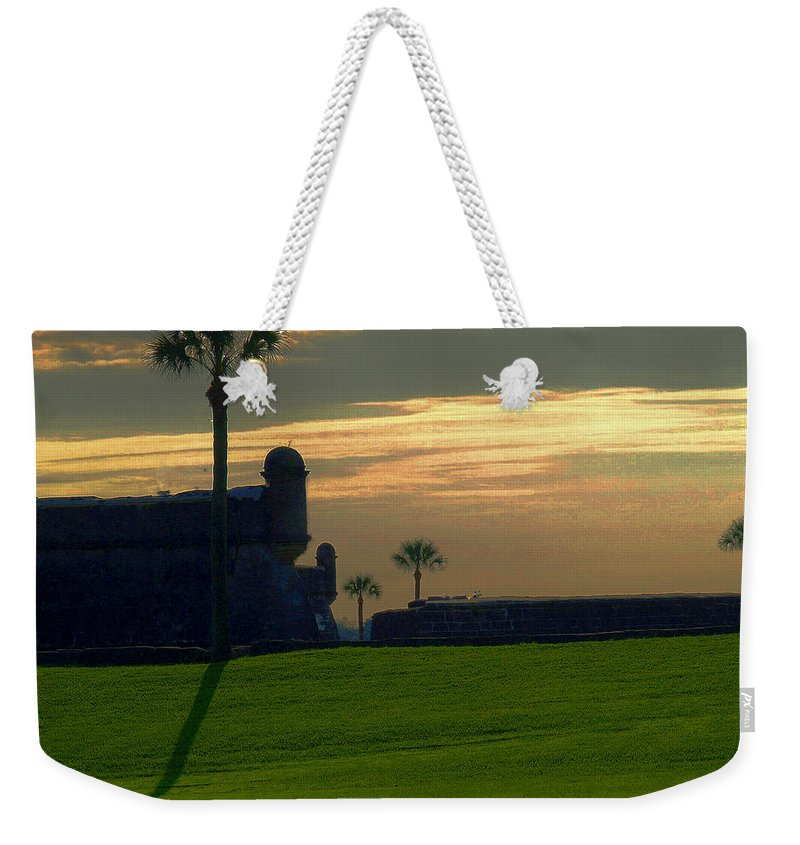 St Augustine Weekender Tote Bag featuring the photograph The Castillo De San Marcos by Bob Johnson
