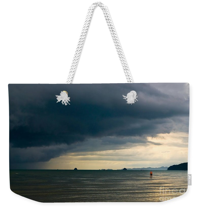Daring Weekender Tote Bag featuring the photograph The Challenger by Syed Aqueel