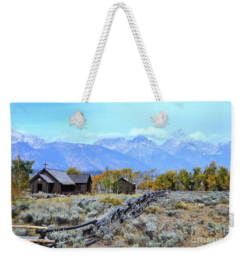 Chapel Of The Transfiguration Weekender Tote Bag featuring the photograph The Chapel by Deanna Cagle
