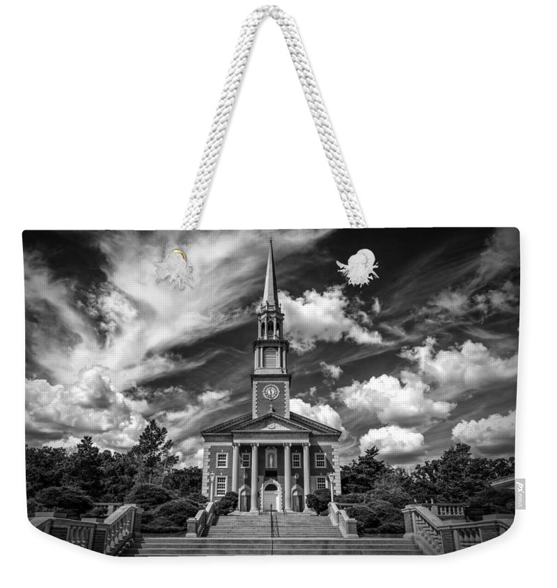 Church Weekender Tote Bag featuring the photograph The Chapel by Mike Burgquist