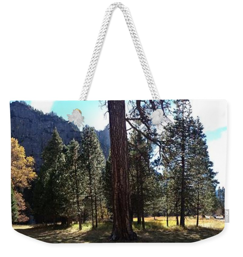 Chapel Weekender Tote Bag featuring the photograph The Chapel Yosemite by Christine Owens