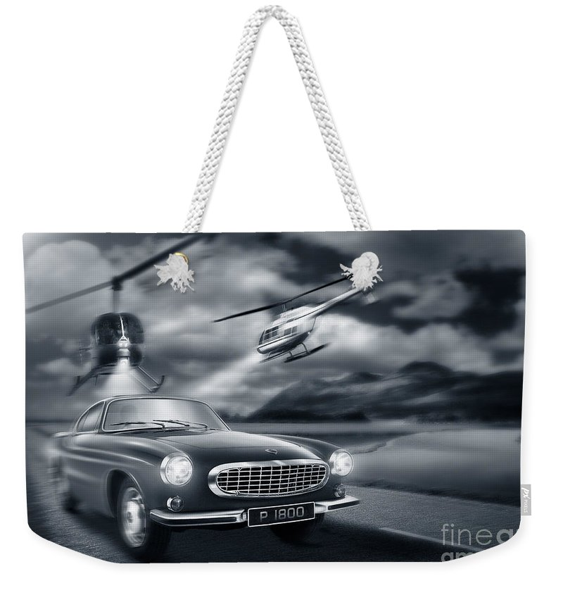 Volvo P1800 Weekender Tote Bag featuring the digital art The Chase 2 by Linton Hart