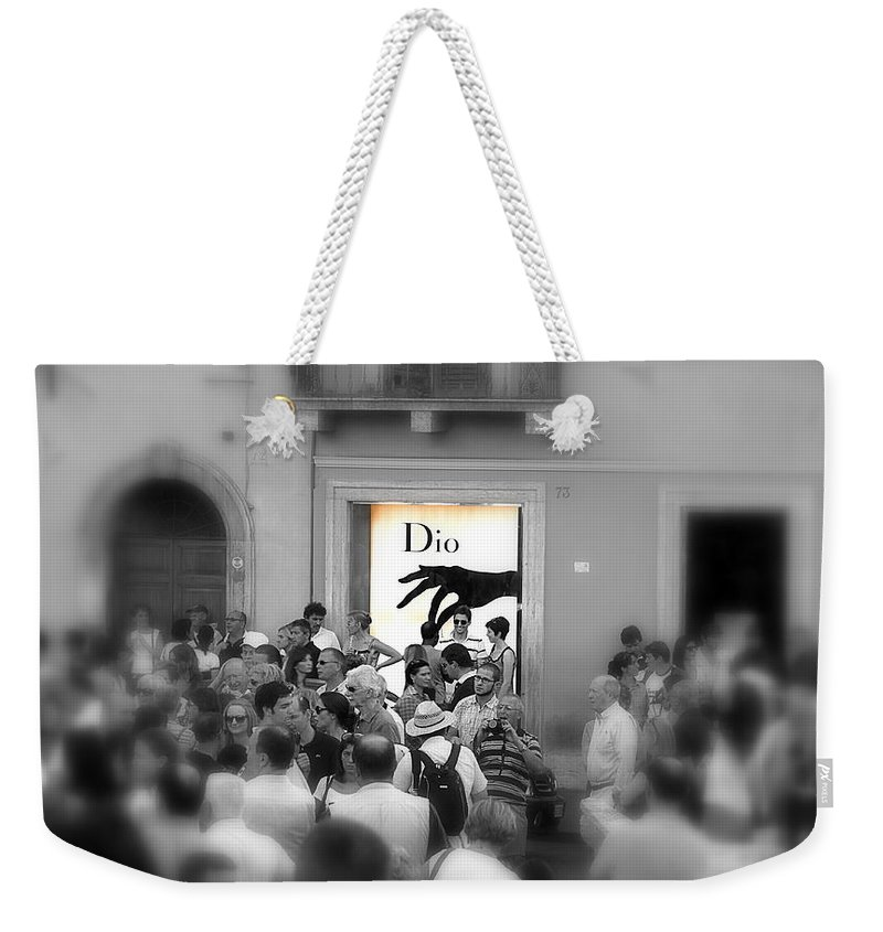 Chosen Weekender Tote Bag featuring the photograph The Chosen One by Valentino Visentini