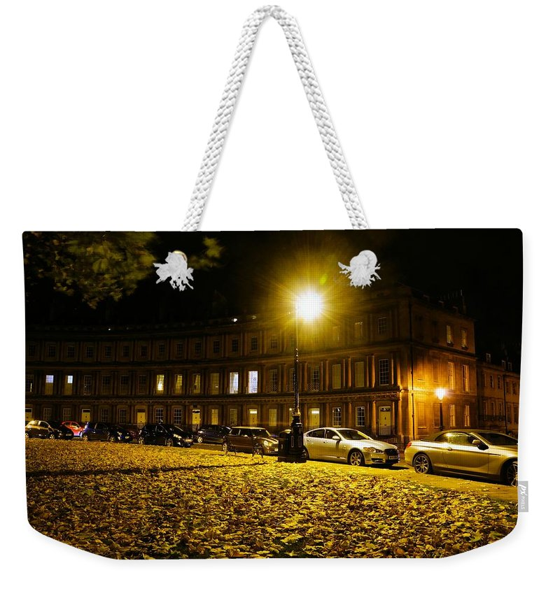 Georgian Weekender Tote Bag featuring the photograph The Circus At Night by Ron Harpham
