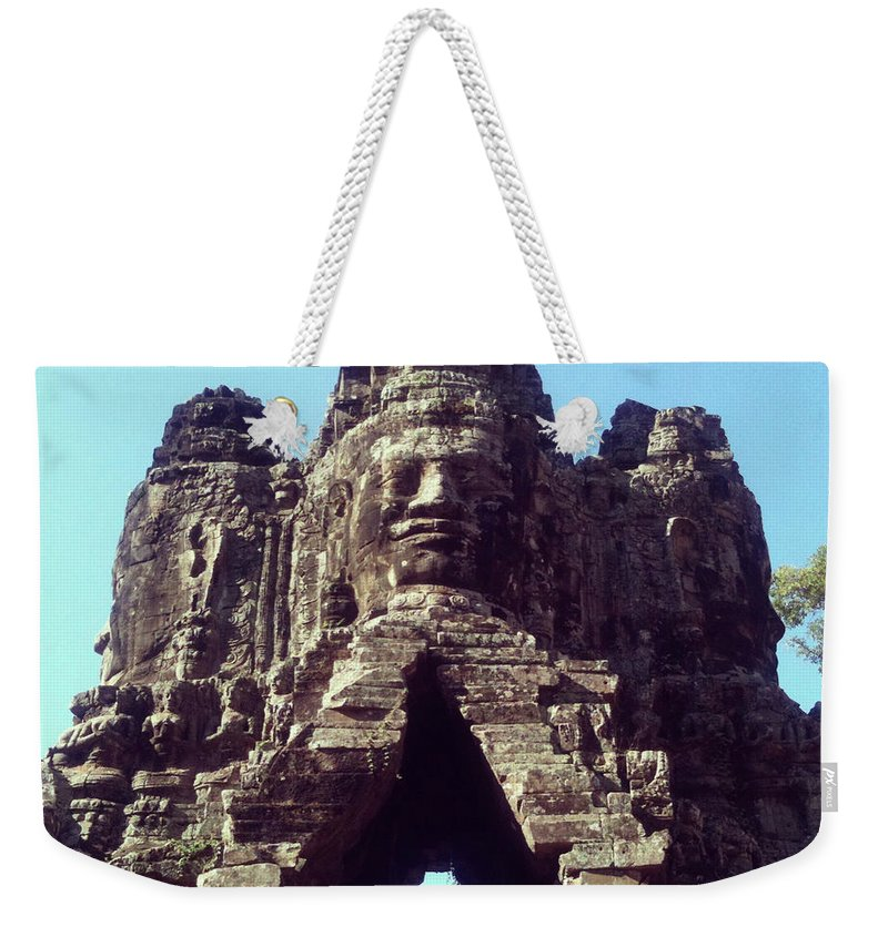 Arch Weekender Tote Bag featuring the photograph The City Gates At Angkor by Lasse Kristensen