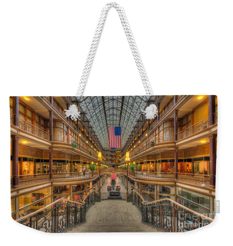 Clarence Holmes Weekender Tote Bag featuring the photograph The Cleveland Arcade V by Clarence Holmes