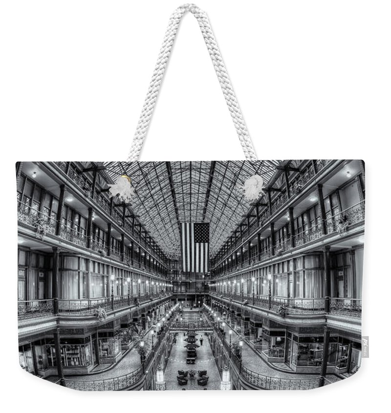 Clarence Holmes Weekender Tote Bag featuring the photograph The Cleveland Arcade Viii by Clarence Holmes